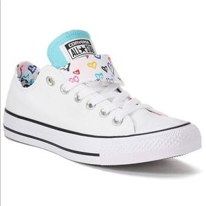 Converse | All Star Double Tongue Heart White Lows